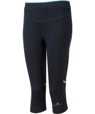 Ronhill RH-002012RH-00196-8 Ladies aspiração de hortelã-pimenta preta collants stretch capri - tamanho uk 8 (xs)