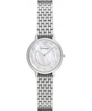 723705984f0c8 Emporio Armani AR2511 Vestido de damas de prata pulseira de aço relógio