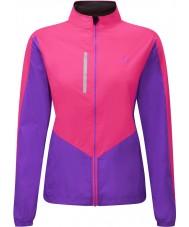 Ronhill RH-001473RH00179-12 Mulheres jaqueta vizion fluo rosa lilás windlite - tamanho uk 12 (m)