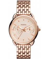 dae0baa3dc9 Fossil ES3713 Ladies tailor pulseira rosa relógio do aço ouro