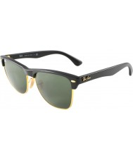 d394e68a2f6be RayBan Rb4175 57 Clubmaster de grandes dimensões demi preto brilhante a  ouro 877 óculos de sol