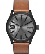 2737fc3b6cd Diesel DZ1764 Mens grosa luz de couro marrom relógio de pulseira