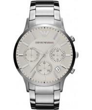 b3fbb5810a32f Emporio Armani AR2458 Mens clássico cronógrafo relógio de prata