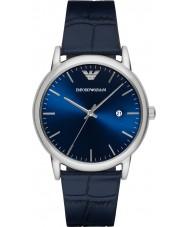f9929ac162762 Emporio Armani AR2501 Mens de couro azul clássico pulseira de relógio