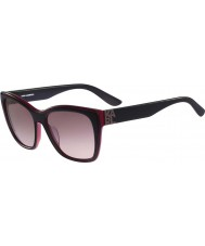 Karl Lagerfeld Senhoras kl899s preto óculos de sol vermelhos