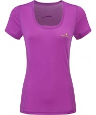 Ronhill T-shirt das senhoras stride zeal ss