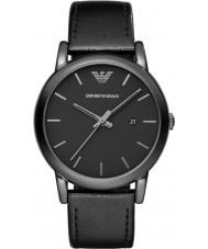 192ed4bd2dc63 Emporio Armani AR1732 Mens couro preto clássico pulseira de relógio