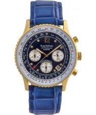 ffc092745bf Krug-Baumen 400207DS Air diamante viajante mostrador azul pulseira azul