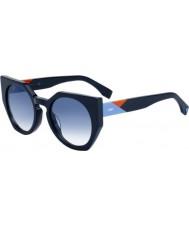 a7f8f8f50 Fendi Ladies facets ff 0151-s pjp u3 óculos de sol