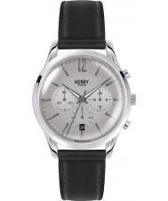 f65befbe963e0 Henry London HL39-CS-0077 Piccadilly cinza quadriculado relógio cronógrafo  preto