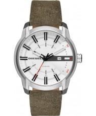 7fb079d8348 Diesel DZ1781 Mens armlock couro verde relógio de pulseira