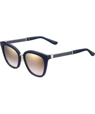 3d9e156d3433d Jimmy Choo Ladies Fabry-s KCA nh azul reluzente espelho de ouro óculos de  sol