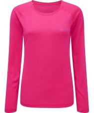 Ronhill RH-001956R027-8 Mulheres vizion fluo-de-rosa movimento T longo da luva - tamanho uk 8 (xs)