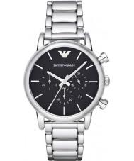 278fda3977054 Emporio Armani AR1853 Mens clássico cronógrafo relógio de prata preto