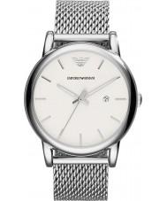c370f5af86c71 Emporio Armani AR1812 Mens clássico prata branca pulseira de malha de  relógio